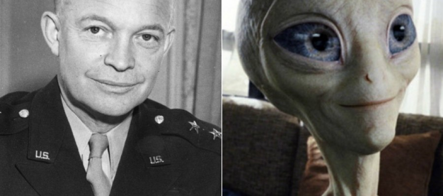 Did President Eisenhower meet with aliens?