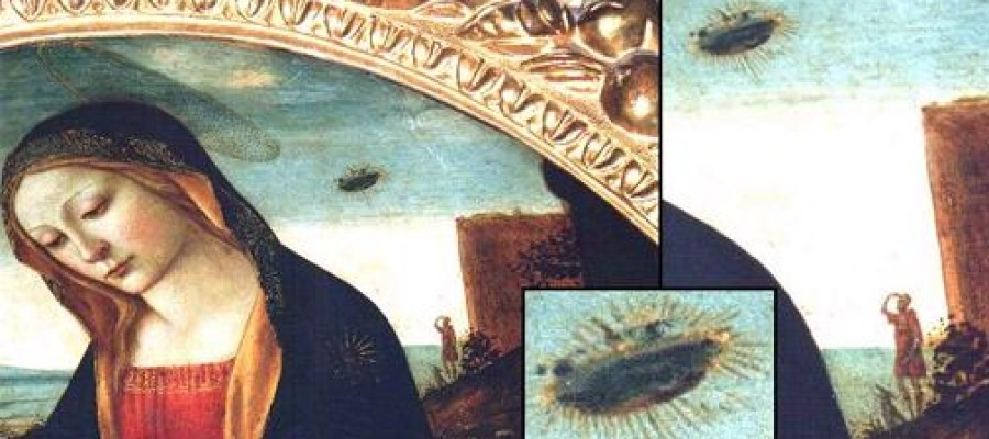 The Madonna with Saint Giovannino – UFO painting