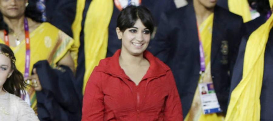 London Olympics: Mystery woman