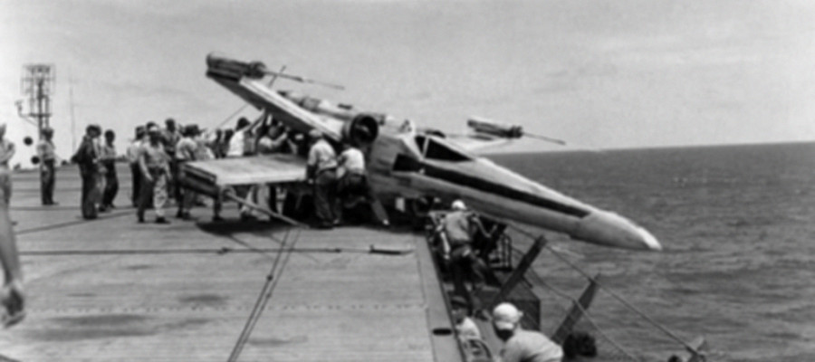 Craft of Alien x-Wing  recovered during World War 2
