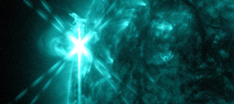 Laser Beam Shoots Sun Causing CME