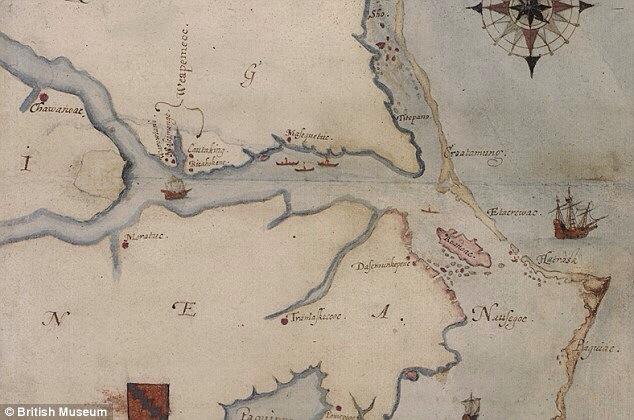 Roanoke Island Map