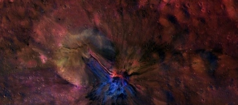 colorized images of asteroid Vesta