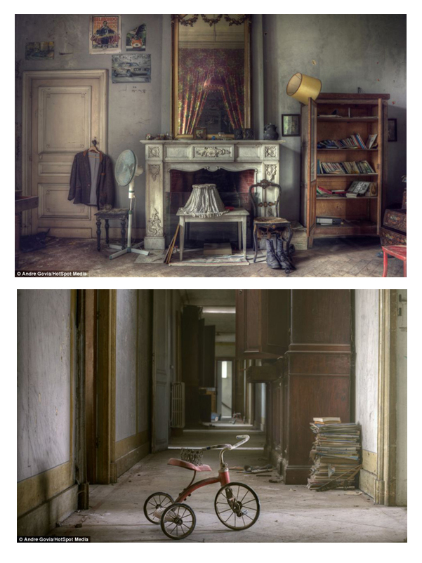 A Deserted Estate in Belgium is Filled with Dirty Clothes, Toys, and Expensive Furniture