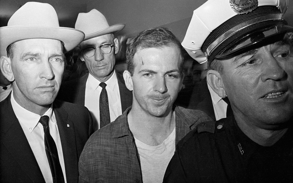 Lee Harvey Oswald below at his arrest.