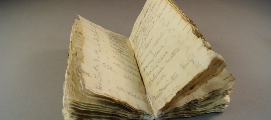 100-year-old notebook found in Antarctica
