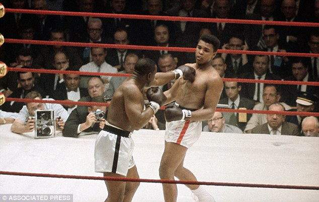 The outsider: Clay (right) entered the ring as a 7-1 underdog, but pulled off a shock victory which laid the foundations for his glittering career as Ali