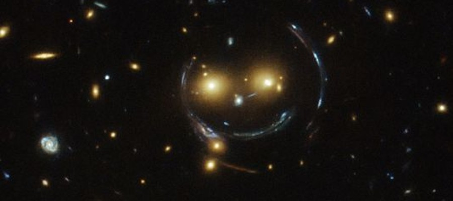 Hubble captures 'smiley face' in space