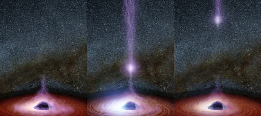 NASA – something has just been seen leaving a black hole!