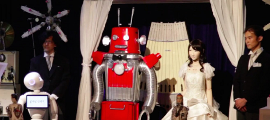 Robot wedding takes place in the World's first