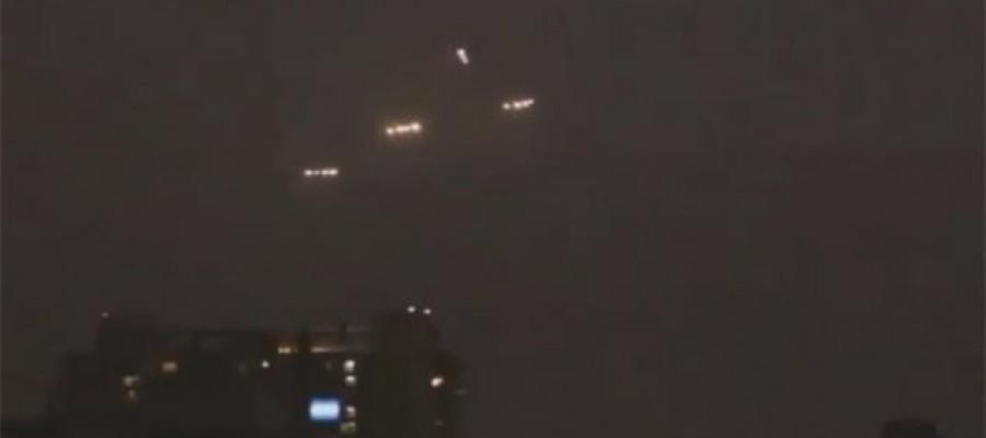 Multiple UFOs filmed over Santiago, Chile