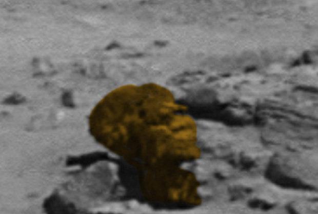 This Mars rock looks like Barack Obama