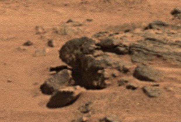 A rock of Barack Obama on Mars