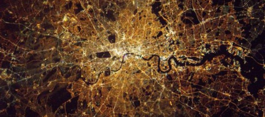 Astronaut Tim Peake's View Of London At Night