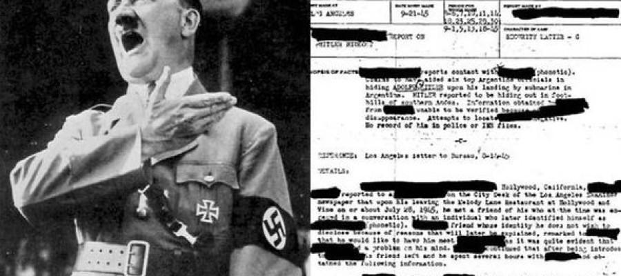 Secret FBI files 'reveal Hitler DID fake death'
