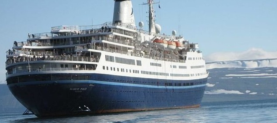 Pensioner attempts to swim after cruise ship