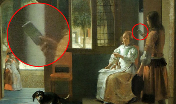 Proof of time travel? iPhone discovered in mysterious 350 year old picture