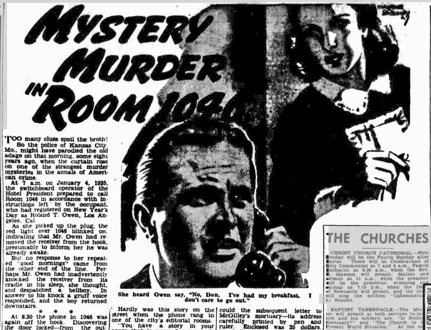 Roland T. Owen, and the horror in room 1046