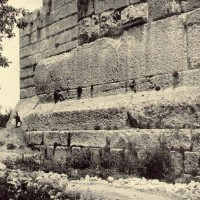 Baalbek Old Photo of Ancient Stone Megalith Foundations 200x200 Baalbek