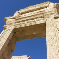 Once arch in the area of the temple of Bel. 200x200 Baalbek