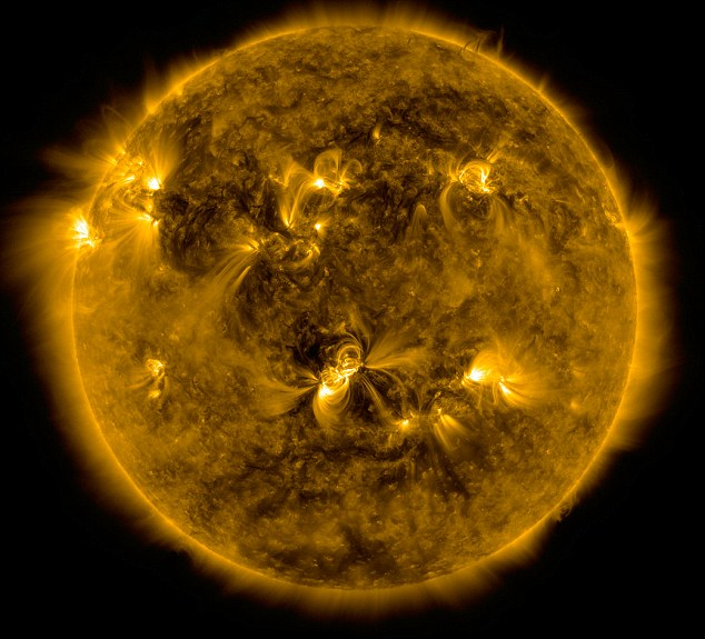 Image taken by SDO's AIA instrument at 171 Angstrom shows the current conditions of the quiet corona and upper transition