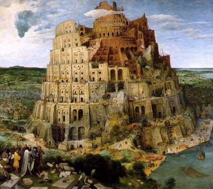 Tower of Babel by Pieter Bruegel, 1563; Kunsthistorisches Museum, Vienna, Austria