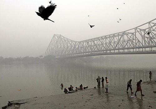 On the Ganges, under the Howrah Bridge