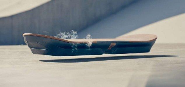hovering skateboard.