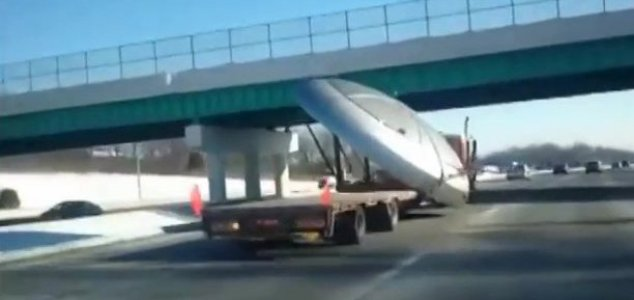 Video shows 'UFO' being carried by a truck